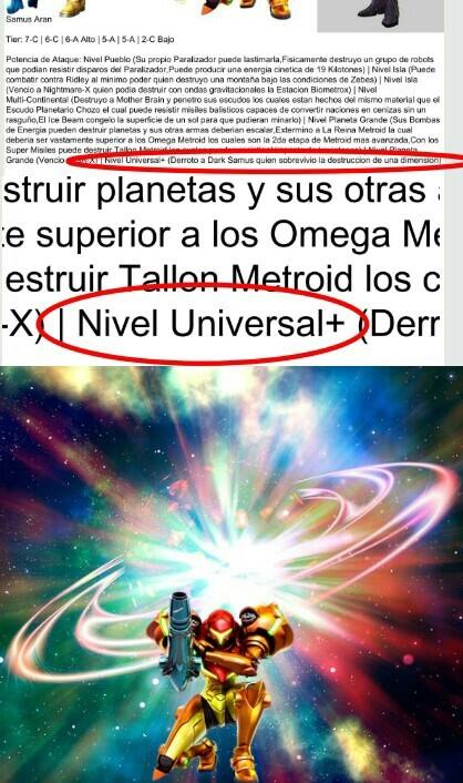 Samus puede destruir universos - meme