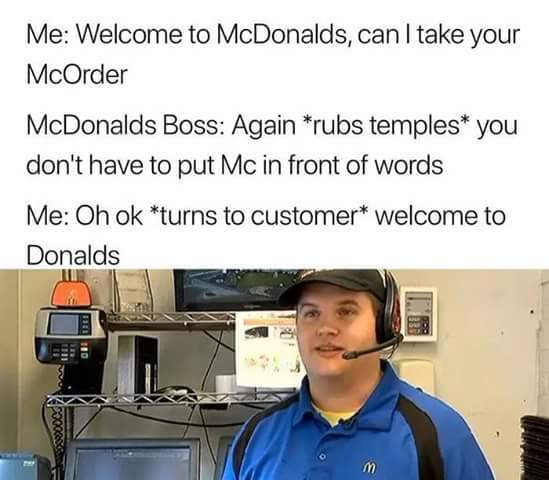 Welcome to Donalds - meme