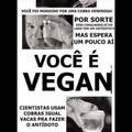 Ó não se você é vegano se fudeu