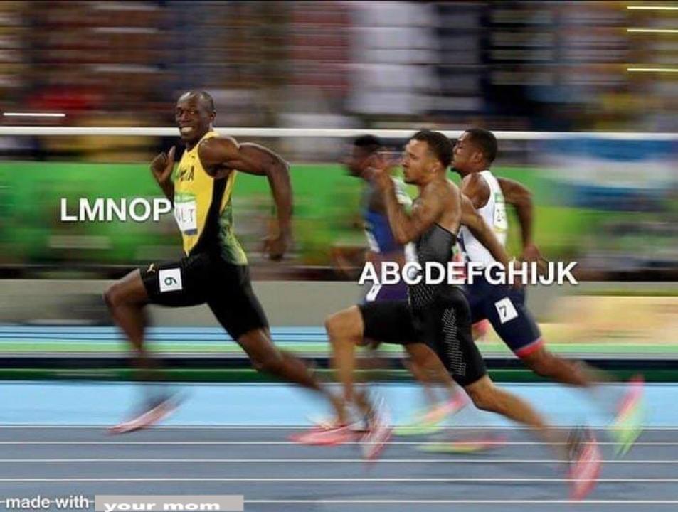 The alphabet - meme
