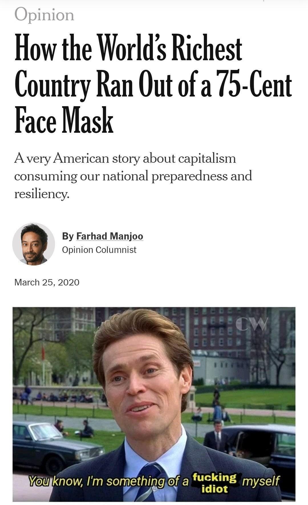 A fucking idiot - meme