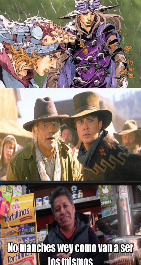 Volver a la carrera steel ball run - meme