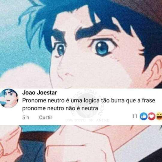 joao joestar>>> qualquer militante - meme