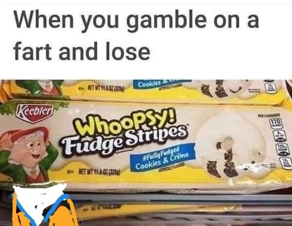 Never trust a fart - meme