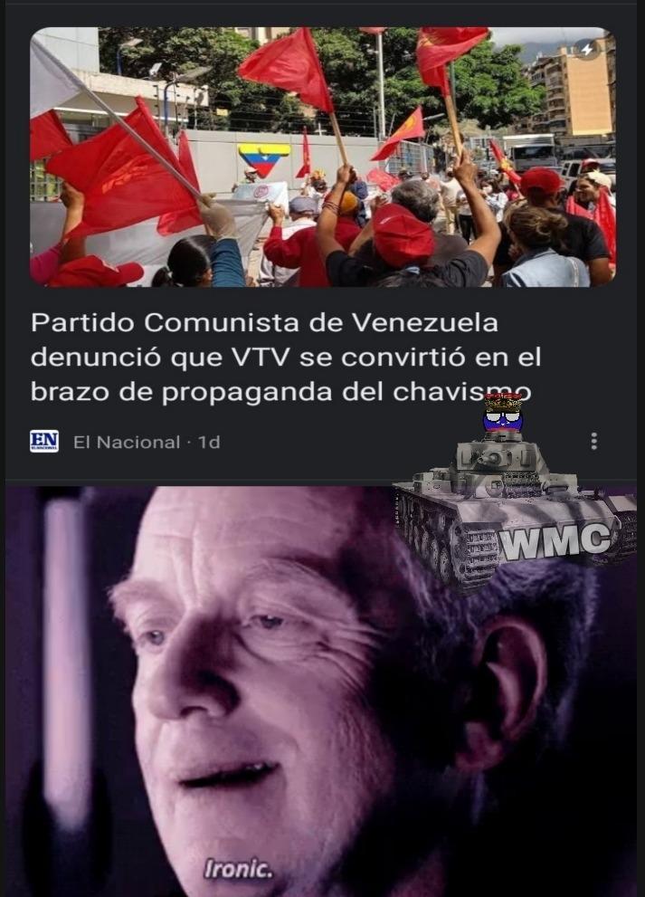 Mierda criticando mierda por usar un canal de TV para infundir ideología (OBVIAMENTE!) - meme