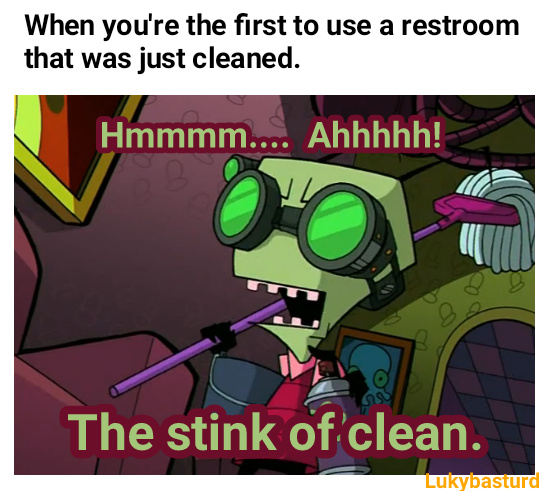 Don't you just love that fresh stink smell - meme