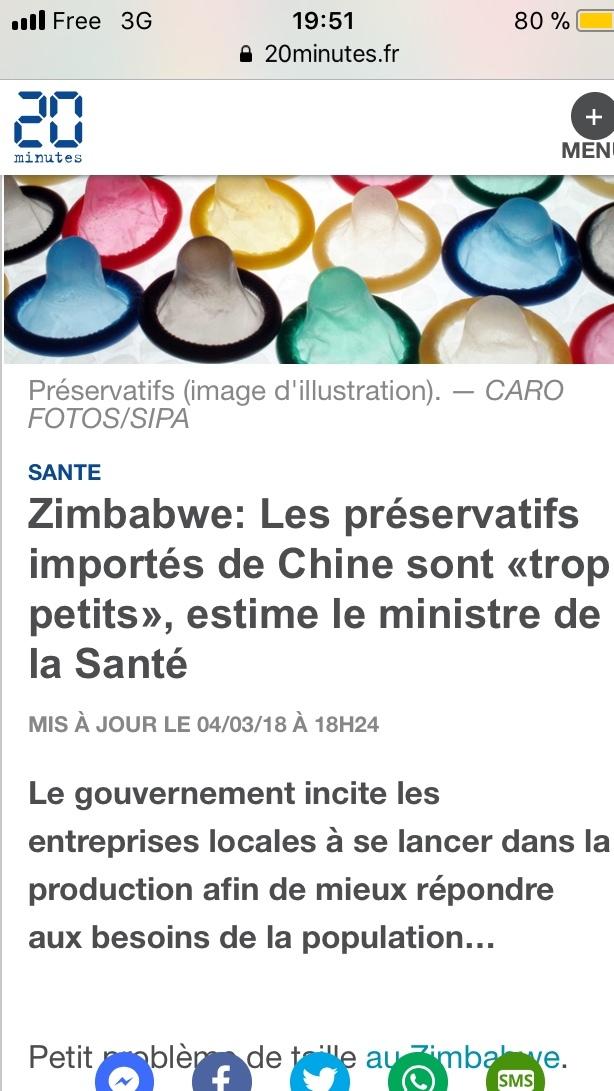 si les chinois estime que c'est la bonne taille c'est que les préservatifs sont à la bonne taille pour eux - meme