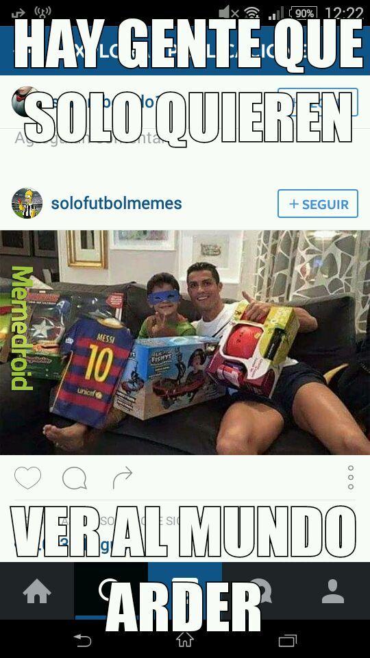 Ronaldo o Messi.... Que prefieren - meme