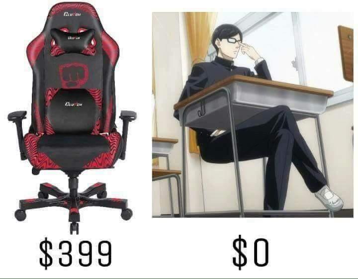Les chaises c'est pour les faibles - meme