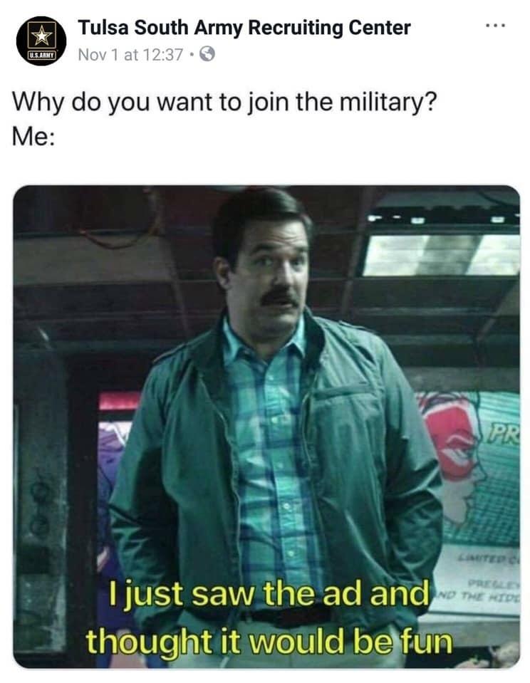 gotta love recruiters humor - meme