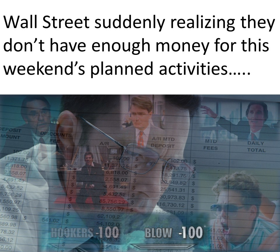 The Real Wall Street Panic..... - meme