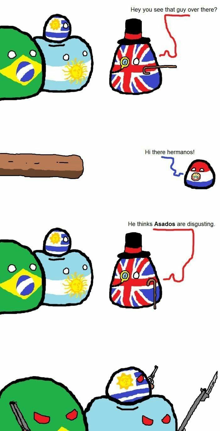 Asi sucedió la guerra de la Triple Alianza - meme