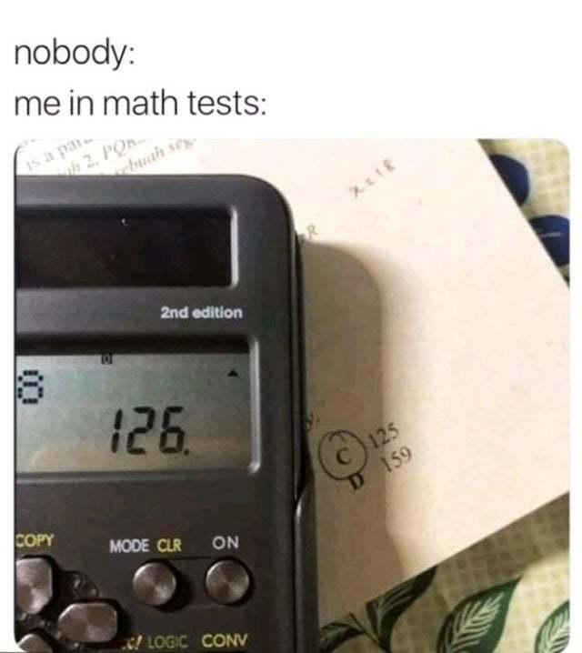 Math test - meme