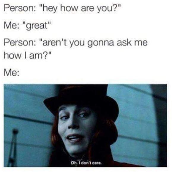 I really don't - meme