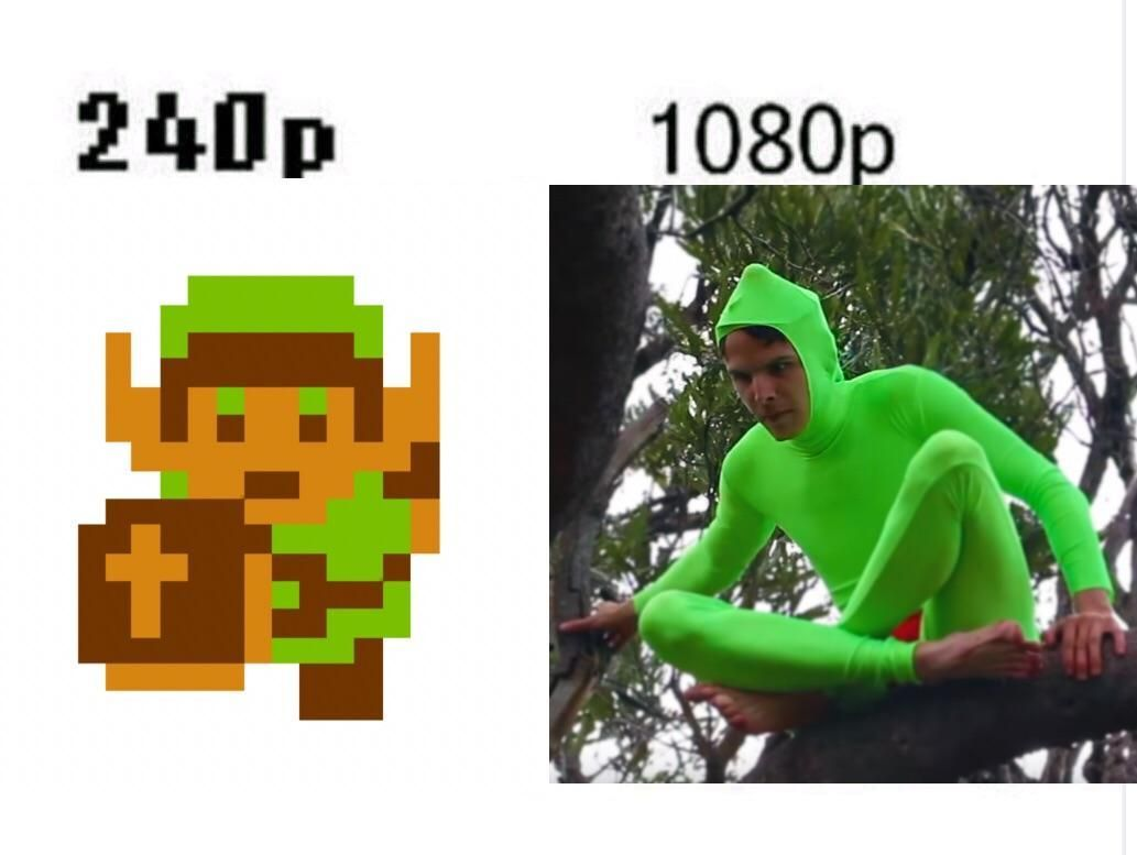 Link is Idubbbz in 1080p - meme