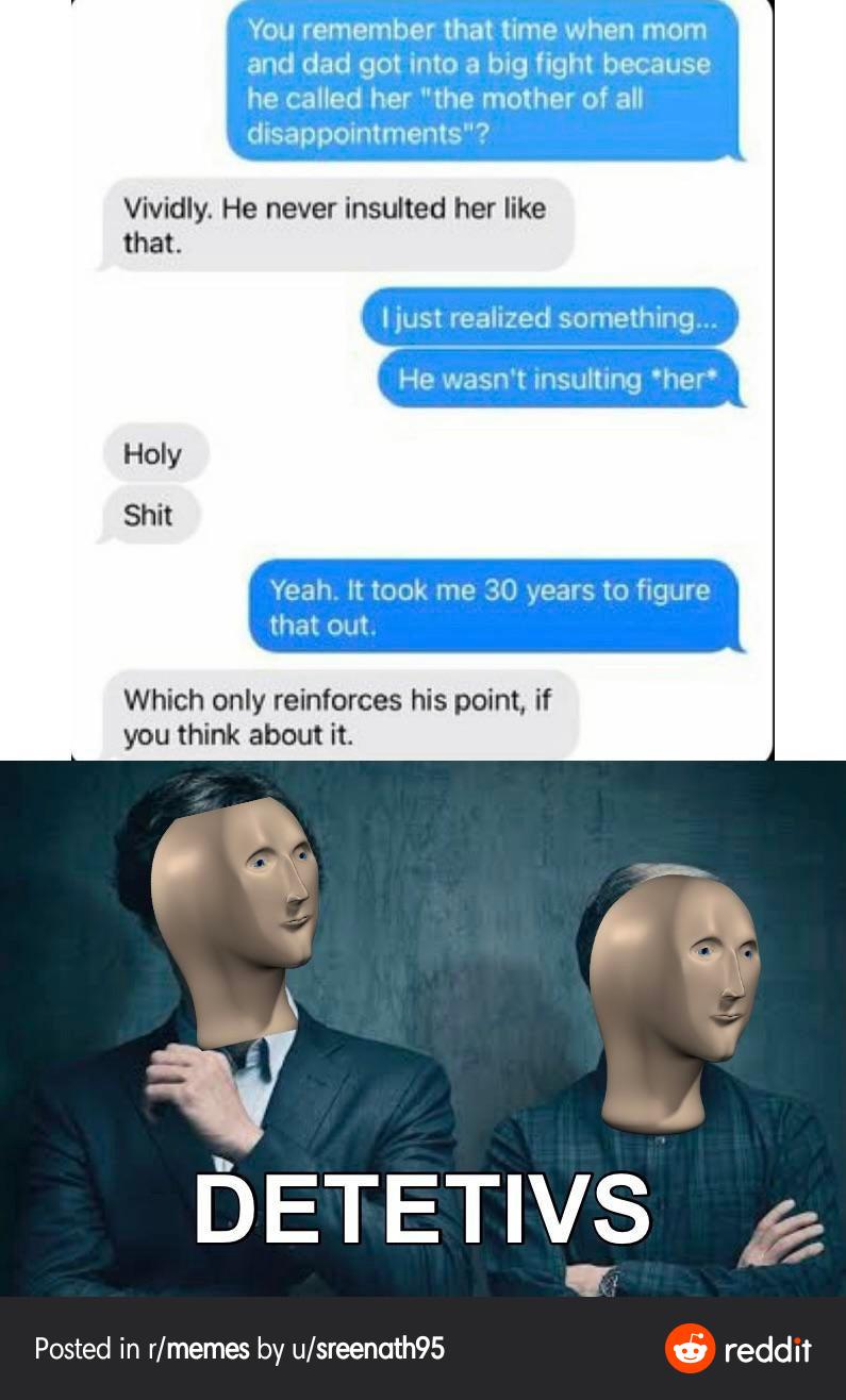 Detetives - meme