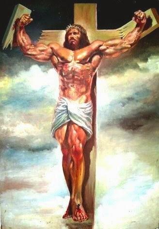 Jesus musculoso V2 - meme
