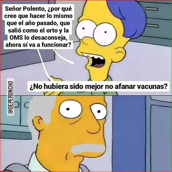el señor  polenta - meme