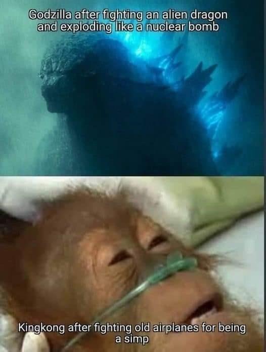 Godzilla is just biult different - meme