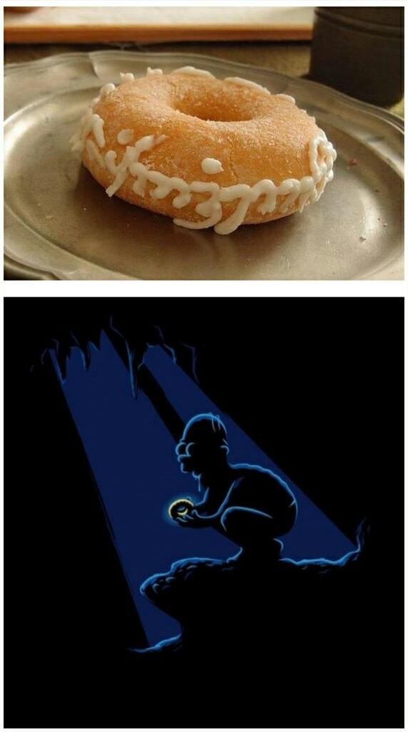 Una rosquilla para gobernarlos a todos... - meme