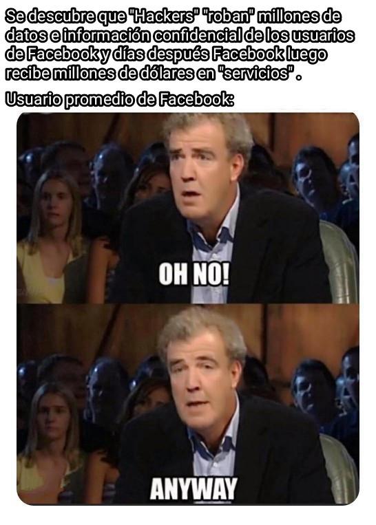 Ah nadie parece importarle su privacidad - meme