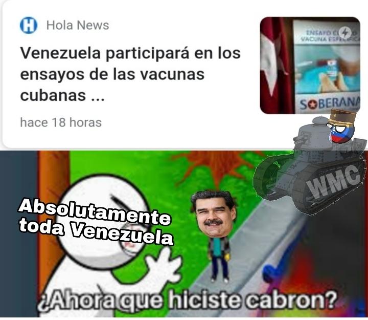 Putamadre, primero somos conejos de Rusia y ahora de la asquerosa Cuba - meme
