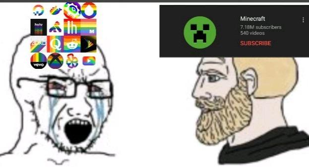 Minecraft chad - meme