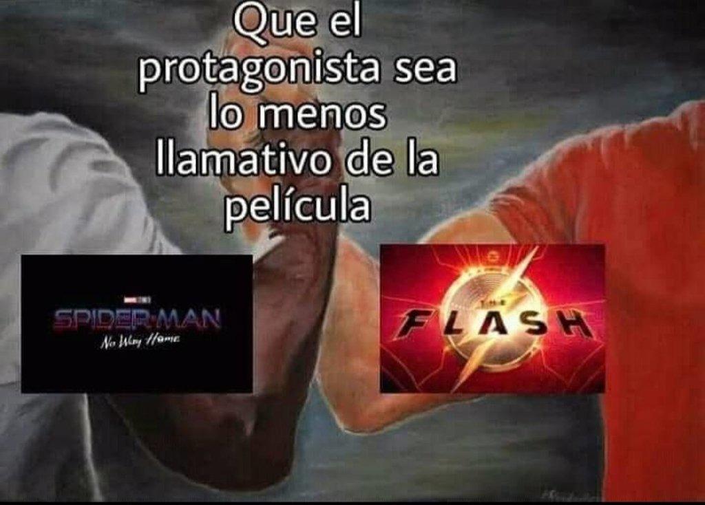 de flash se confirmo que aparecera batman de nola y en spiderman no way home pos spiderverse - meme