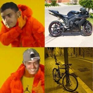 mi pinshe bici xdxdxdxd - meme
