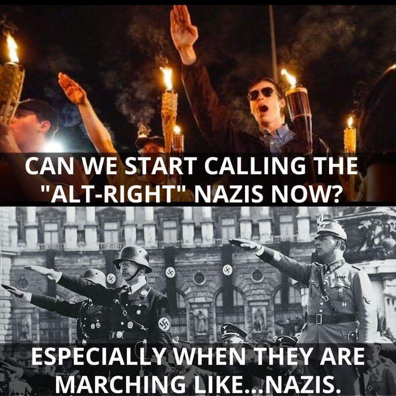 Fuck Nazi scum white supremacist - meme
