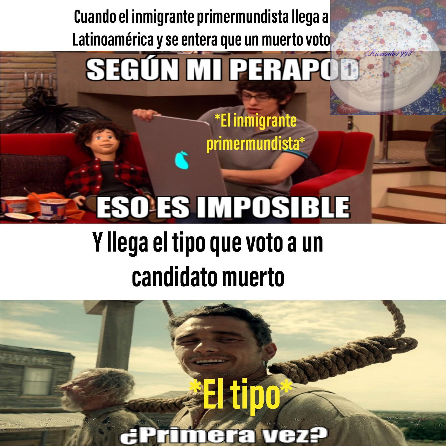 Cosas de Latinoamérica - meme