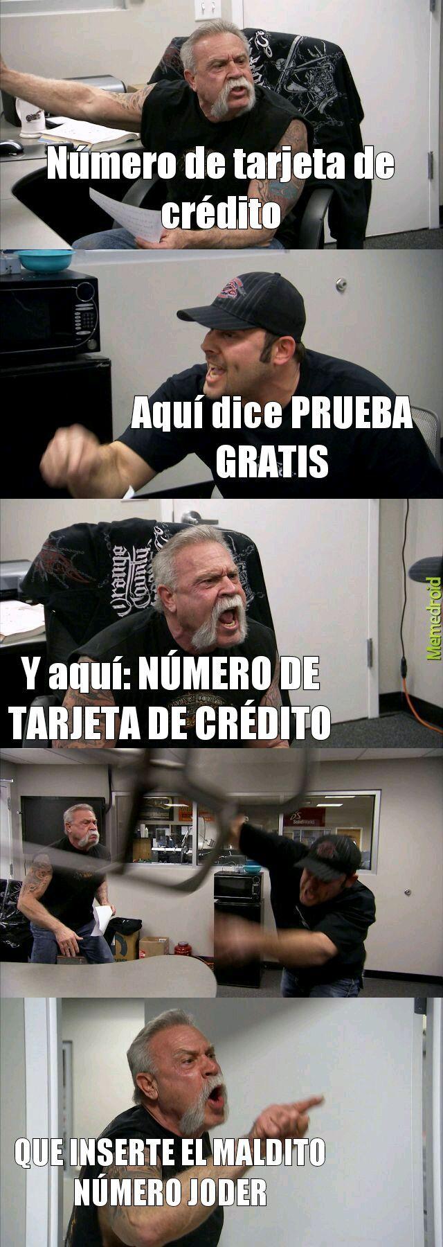 Número de tarjeta de crédito - meme