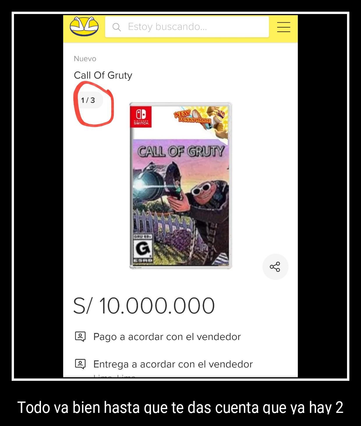 Ya está disponible el Call of Gruty, ya vayan a comprarlo que solo queda 1 edición - meme
