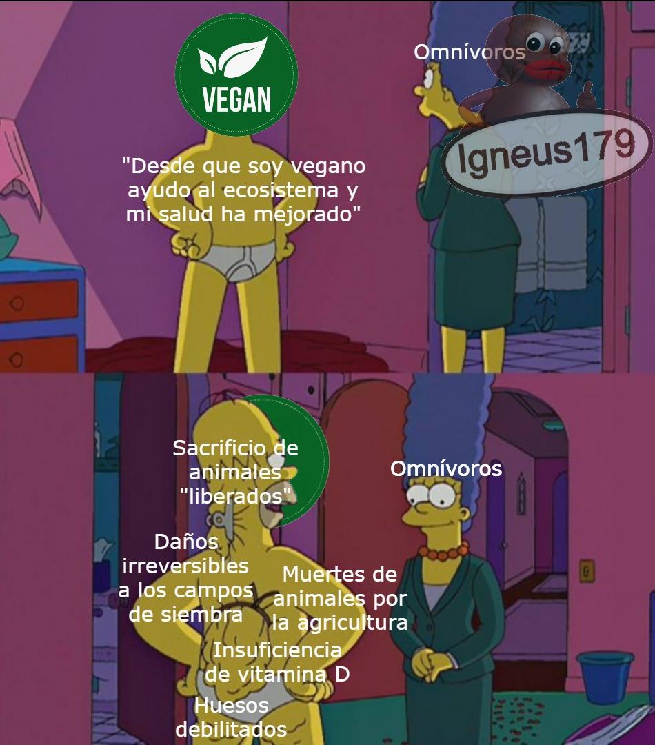 Los veganos son unos hipocritas de mierda - meme