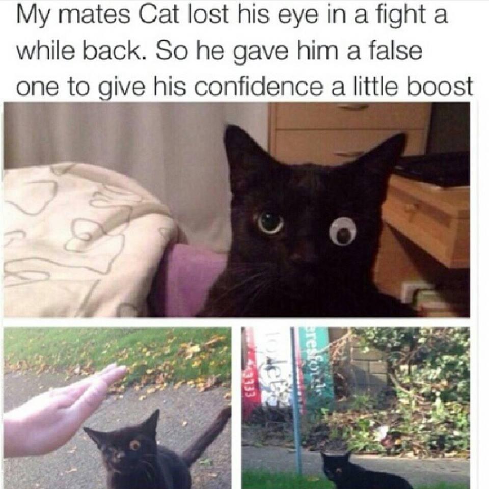 He look happy - meme