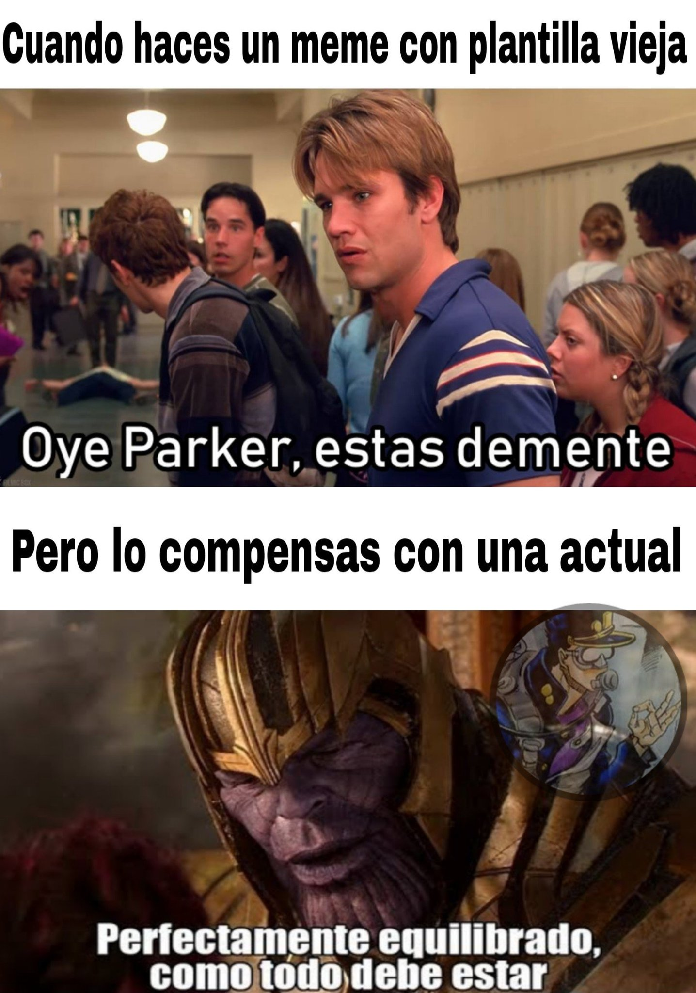 Meme original+Plantilla Vieja=Autor matate xfa