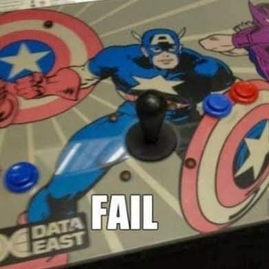 Ninguém queria joga no controle do Capitão América - meme