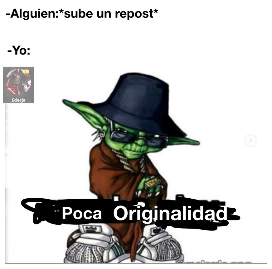 Yoda facha - meme