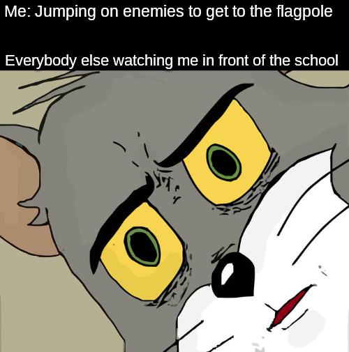 It's a Mario joke - meme
