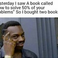"""All it says inside the book is """"get rich"""""""
