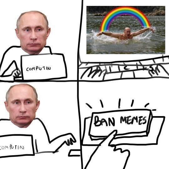 Putin an end to things - meme