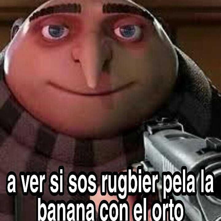 Los rugbiers son putos - meme