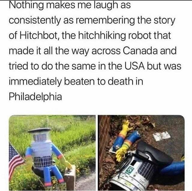 Hitchbot the robot - meme