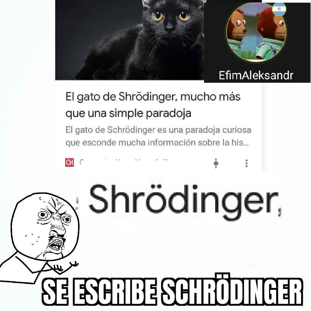 """""""Shrödinger"""" - meme"""