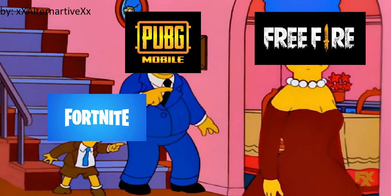 fornite y pubg son lo mejor - meme