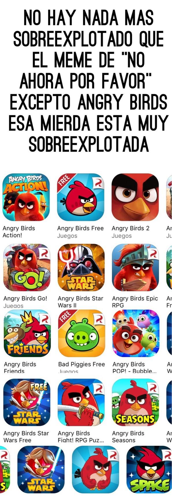 Putos Angry Birds :v - meme