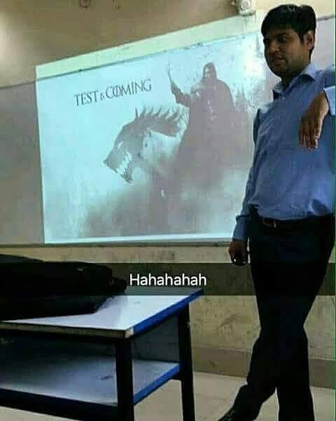 Moi en tant que professeur - meme