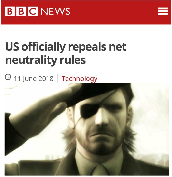 RIP Net Neutrality 2015 - 2018 - meme