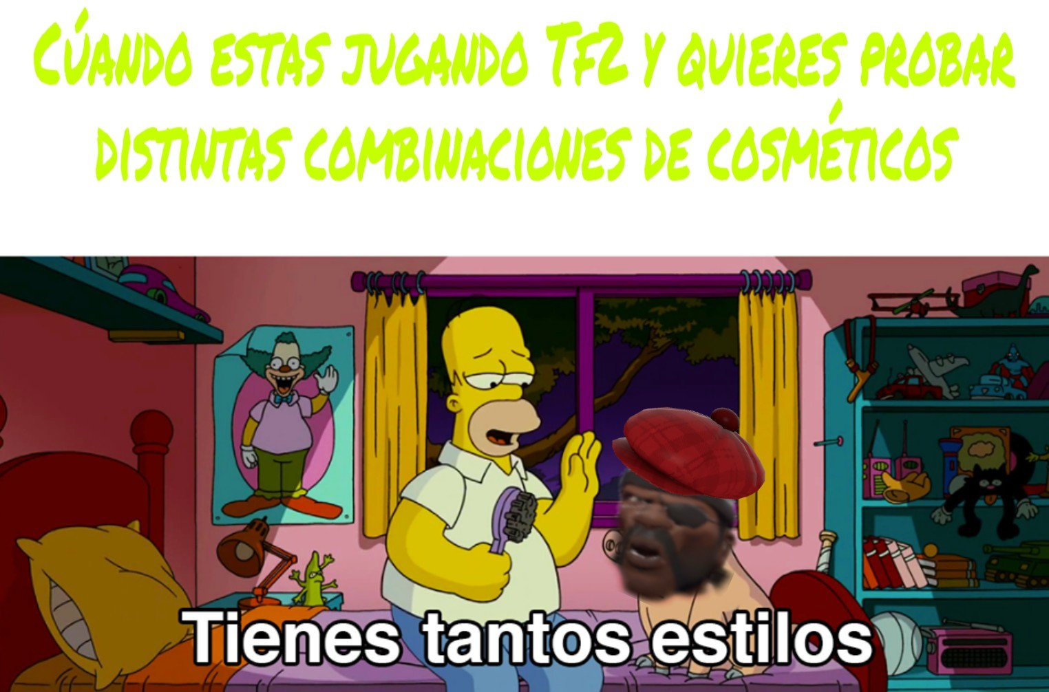 Mi cosmético preferido era el Brotherhood Of Arms :3 - meme