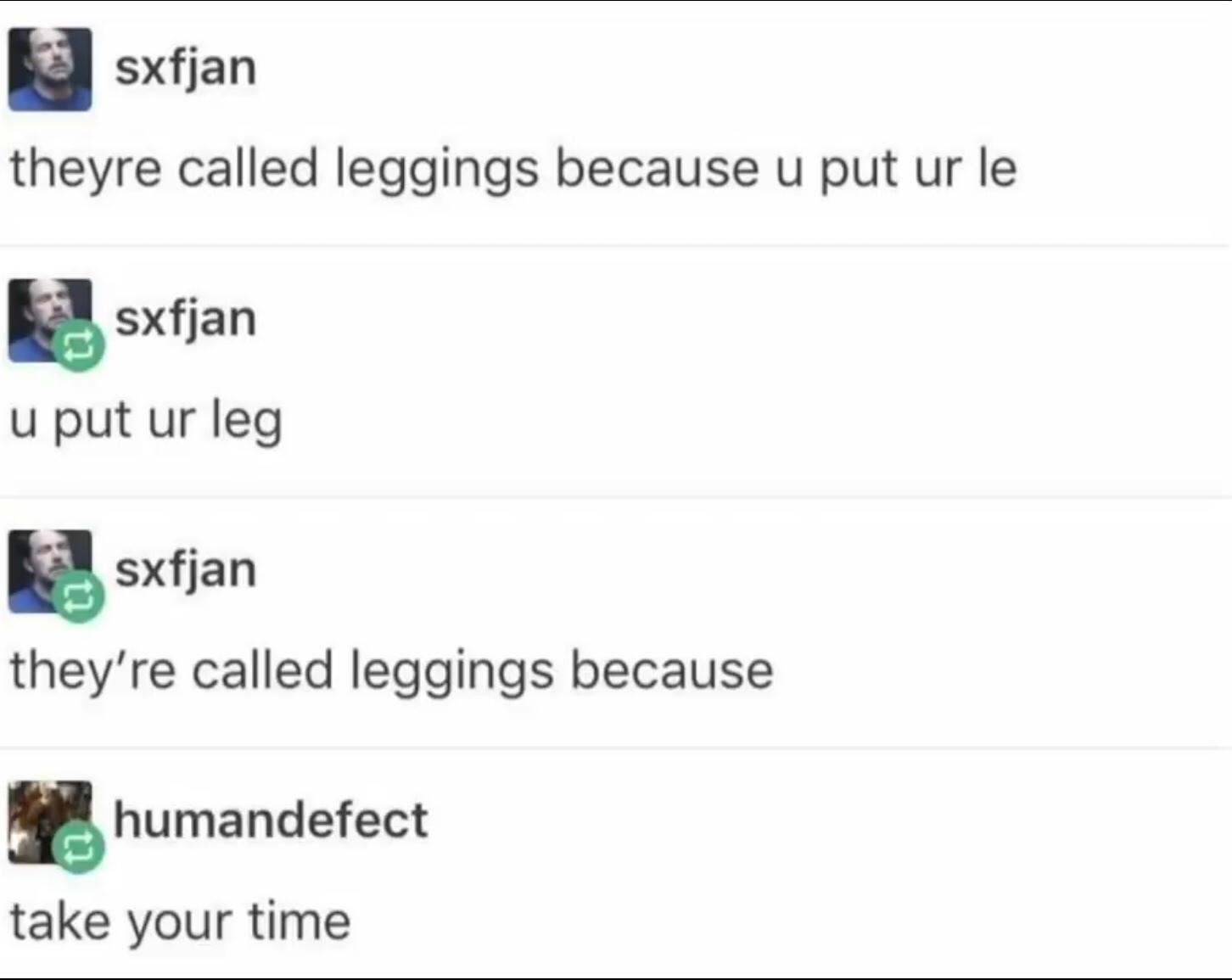leg time - meme
